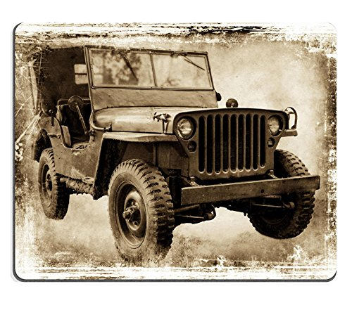 MSD Natural Rubber Gaming Mousepad Vintage offroader I retro style