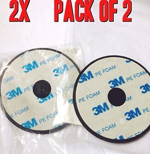 Lot of 2-70mm Adhesive Mounting Disk for Car Dashboards GPS Smartphone Dashboard Disc