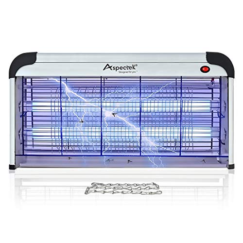 Aspectek 40W Indoor Bug Zapper Insect Killer, Mosquito Killer 25 Inch Larger Powerful Electronic Device Insect Killer for Home Restaurant and Hotel (Black Flag 5 In 1 Bug Zapper)