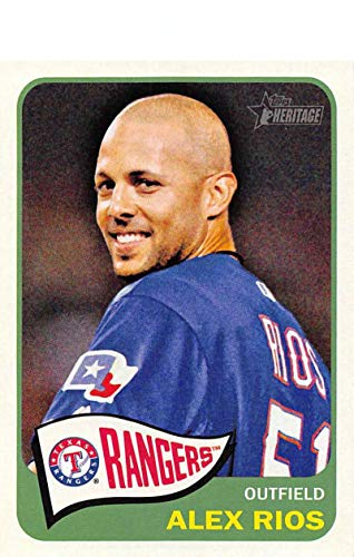 2014 Topps Heritage Baseball #85 Alex Rios Texas Rangers Official MLB Trading Card