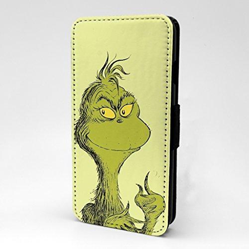 Cat in the Hut bedruckt Telefon Flip Case Hülle für Apple iPhone 7 & 7S - Weihnachtskunst Grinch - s-t1515