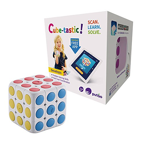 Cube Brain Teaser Puzzle - Pai Technology Cube-Tastic! 3x3 Puzzle Cube with Free IOS/Android App. Brain Teaser Toy for Kids