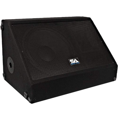 Seismic Audio - 15 Inch 350 Watts Floor Monitor Studio, Stage, or Floor use - PA/DJ Speakers - Bar, Band, Karaoke, Church, Drummer use by Seismic Audio