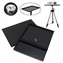 CoCocina 7 inch to 15 inch Metal Laptop PC Projector Tray Holder for 1/4 inch 3/8 inch Screw Tripod Stand