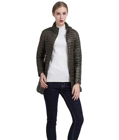 courir chaussures outlet à vendre toujours populaire CHENGYANG Doudoune Ultra Légère Manteau Long Chaud Hiver Veste Zippé  Manches Longues pour Femme
