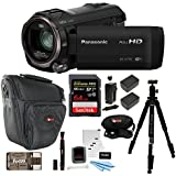 Panasonic HC-V770 HD Camcorder with 64GB SD Card and 69-Inch Tripod Bundle