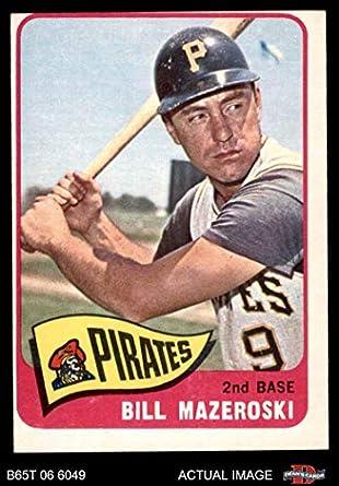 Amazoncom 1965 Topps 95 Bill Mazeroski Pittsburgh