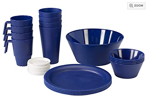 Amazon.com: 21 piece set completo de recámara comer Set ...