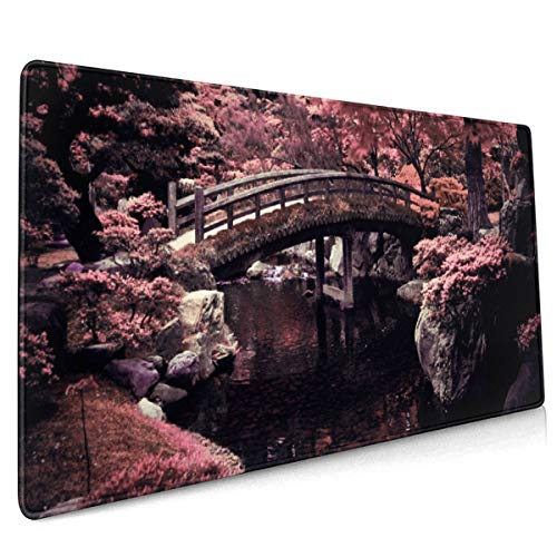 Cherry Blossoms Mouse Pad 15.8x35.5 in Strong Adhesion, Durable, Green Environmental Protection Operation Feel More Comfortable.