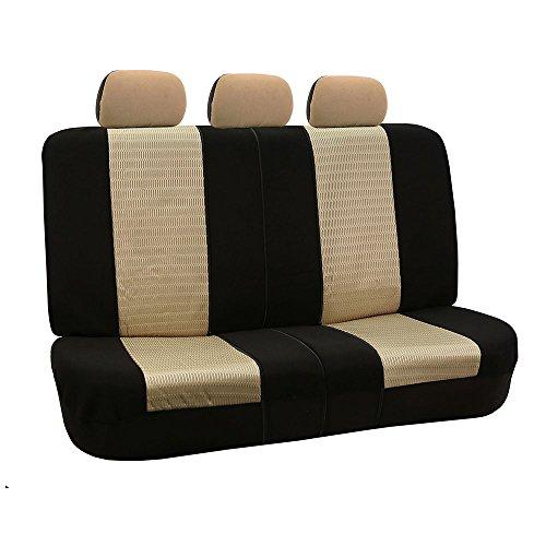 [해외]FH-FB060102 트렌디 엘레강스 페어 버킷 시트 커버 (에어백 호환) 단색 검정색 적합 대부분의 자동차, 트럭, Suv 또는 밴/FH-FB060102 Trendy Elegance Pair Bucket Seat Covers, (Airbag compatible) Solid Black Color-Fit Most Car, Truck, Suv, ...