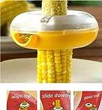 Drhob New Corn Threshing Stripping Round Corn Stripper Thresher Kitchen Utensil Tool (Color: Yellow)