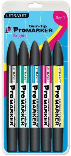 Letraset Promarker Set of 5 Brights
