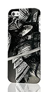 47 Ronin Pattern Image - Protective 3d Rough Case Cover - Hard Plastic 3D Case - For iPhone 5S