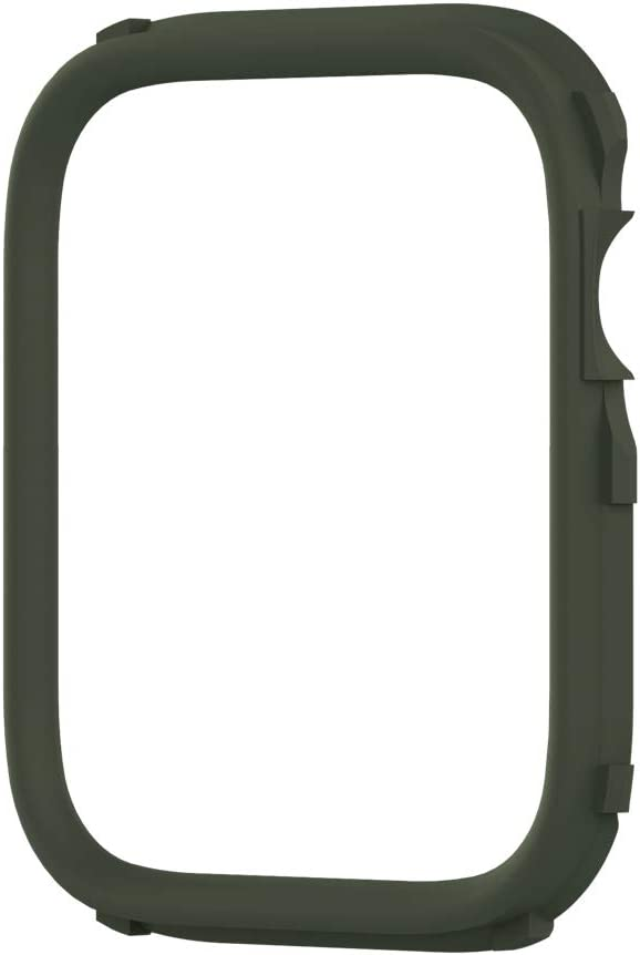 RhinoShield CrashGuard NX Extra Rim [ONLY] Compatible with Apple Watch SE [44mm] & Series 6/5 / 4 [44mm] & Series 3/2 / 1 [42mm] | Additional Accessory for RhinoShield Apple Watch Case- Camo Green