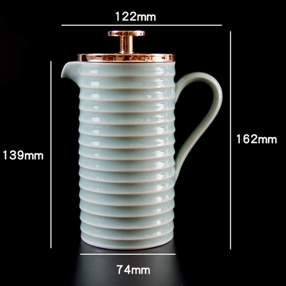 Coffee Pot Tea Pot Coffee Kettle Espresso Coffee Maker Coffee Machine French Coffee Press Ceramics Pressure Stainless Steel Filter GAOFENG (Color : 300ml) by GAOFENG-coffee pot (Image #2)