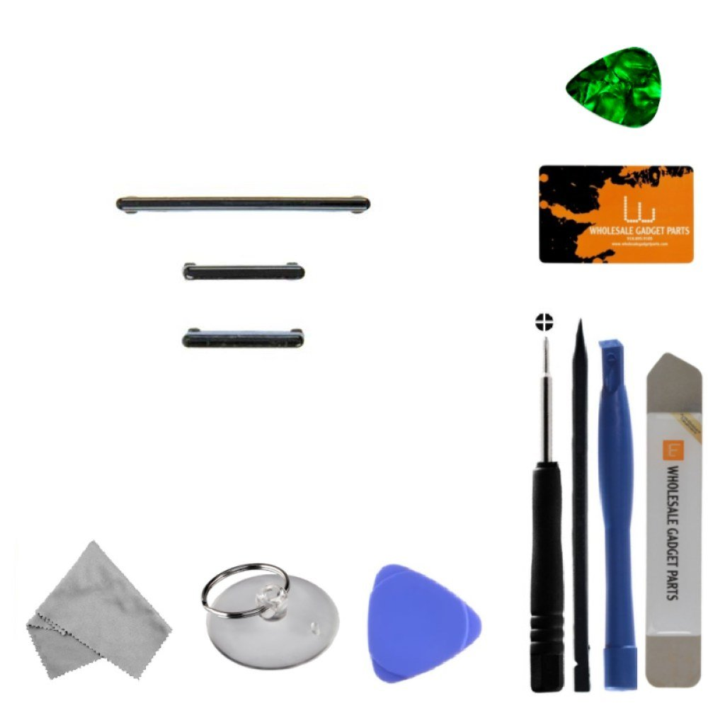 Button Set (Volume, Power, & Bixby) for Samsung Galaxy S8 (Black) with Tool Kit by Wholesale Gadget Parts (Image #1)