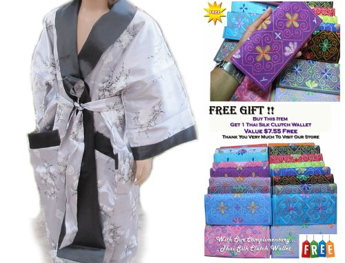 CHILDREN BATH ROBE JAPANESE KIMONO SATIN AND SILK WITH COMPLIMENTARY by eThaiComplex (Image #1)