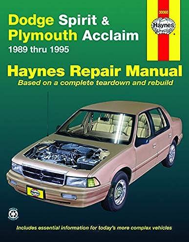 1993 Plymouth Acclaim Wiring Diagram - Wiring Diagram Schema
