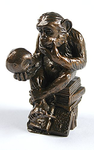 Parastone Pocket Art Rheinhold Monkey with Skull Philosophizing Miniature Statue PA09RHE