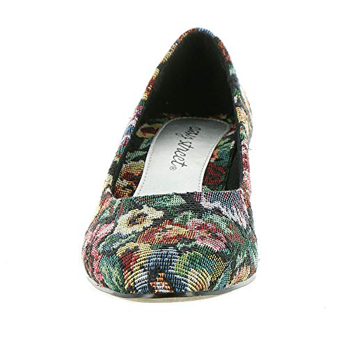 Womens Toe Classic Easy floral Pumps Halo Round Street Green Multi hunter fqwIT