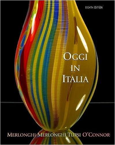 Oggi In Italia A First Course In Italian
