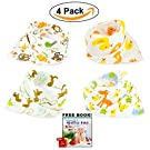 Bandana Baby Bibs Cute Zoo Fun For Girls and Boys 100% Cotton Super-Stylish Anti-Smell Anti-Bacterial Quick Dry Avoids Drool Rash with Nickel-Free Snaps, Best for Sensitive Skin, Buy Now!
