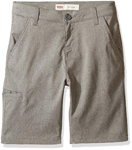 Levi's Boys' Big 511 Slim Fit Lightweight Stretch Shorts, Smoked Pearl, (Levis Boys Shorts)