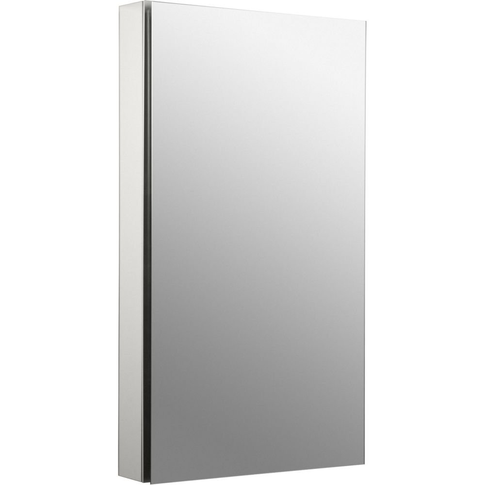 Kohler K-2918-PG-SAA Catalan Mirrored Cabinet with 107° Hinge, Satin Anodized Aluminum by Kohler