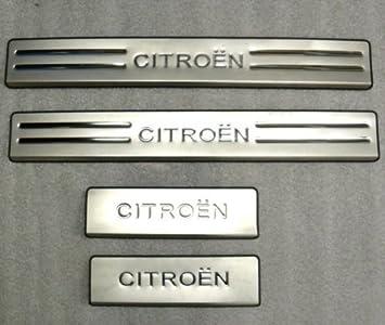 OMTEC Citroen C2 placas de umbral de la puerta - acero inoxidable - Aftermarket partes: Amazon.es: Coche y moto