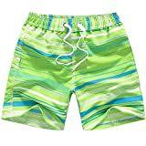 Kqpoinw Baby Boys' Swim Trunks Kids Quick Dry Beach Board Shorts Swimsuit for Boys (M: 6 (5-6 Years), Green)