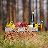 G GOOD GAIN Woodchip Picnic Basket with Double