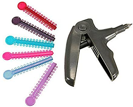 Bonew 1040/pcs Ligature Ties Bracelets dentaire orthodontique Ligature Pistolet distributeur