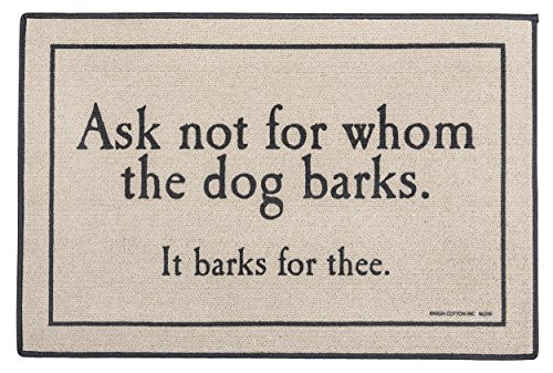 High Cotton Doormat Whom Barks product image