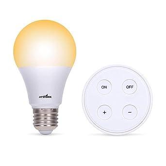 Naturel Sans Led Chaudblanc Kit Scène Ambiance Variateur Ampoules De Lampe Froidblanc Télécommande Dimmable Blanc Ampoule 10w E27 Avec H92WDEI
