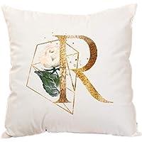 Yanshe 1 stks eenvoudige kussenhoes brief print decoratie kussensloop vierkante kussenhoes woonkamer bank slaapkamer…