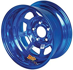 Aero Race Wheels 52-985020BLU 15x8 2in 5.00 Blue Chrome