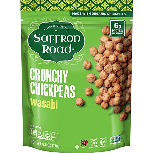 Saffron Road Organic Crunchy Chickpeas, Non-GMO, Gluten-Free, Halal, Wasabi, 6 Ounce