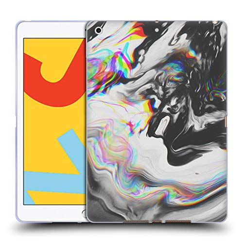 Official Malavida Blue Velvet Abstract B&W Psychedelic Soft Gel Case Compatible for iPad 10.2 (2019)