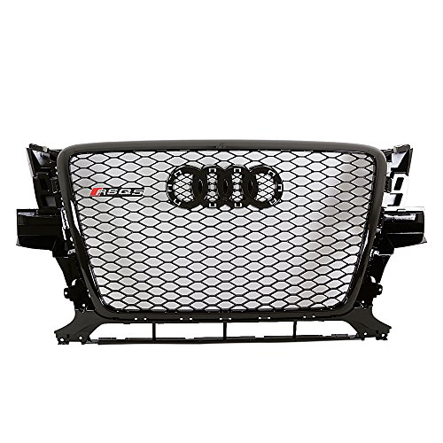 09-12 AUDI Q5 Euro RSQ5 Style Honeycomb Mesh Grille - Gloss Black (Audi Q5 Grill)
