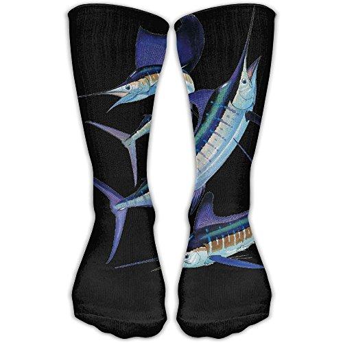 Marlins Man Halloween Costume (Marlin Group Women & Men Socks Knee High Long Soccer Sport Tube Stockings Length 30cm)
