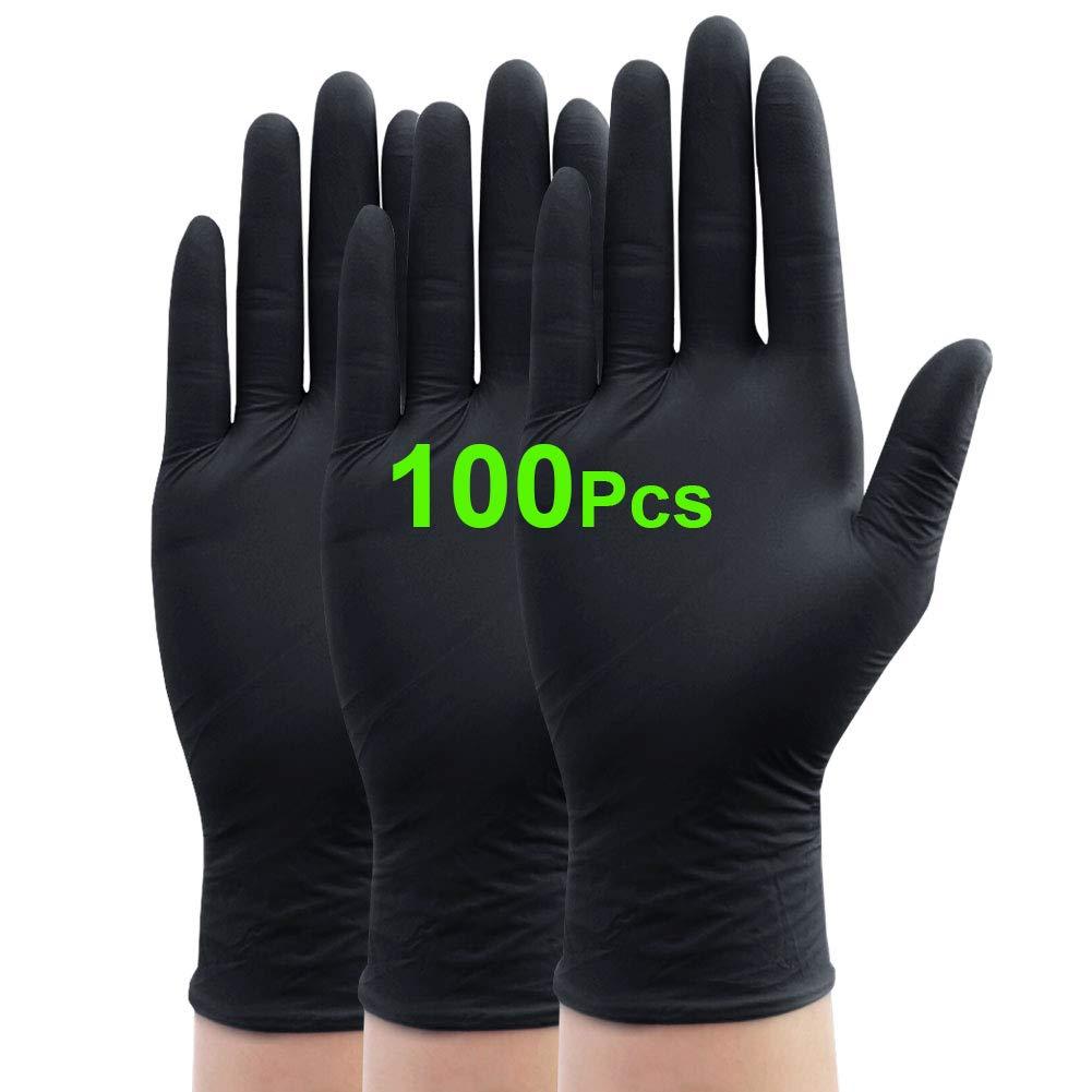 la cuisine le camping et les voyages Noir la p/êche 100 Zakasa Lot de 100 gants jetables pour la maison le jardin X-Large