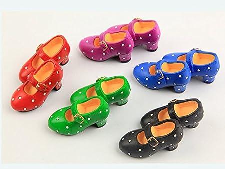 CHAR Lote de 6 pares de zapatos decorativos, diseño de baile flamenco, souvenir de España: Amazon.es: Hogar