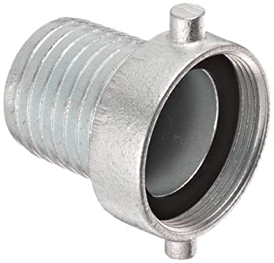 Dixon S Series Plated Iron Hose Fitting, King Short Shank Suction Coupling with Plated Iron Nut, NST Female x Hose ID Barbed