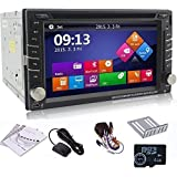 "Ouku 6.2"" 2Din LCD TFT in Dash Car DVD Player with DVD/CD/MP3/MP4/USB/SD/Radio/BT/Stereo/Audio GPS Navigation With Map Card"