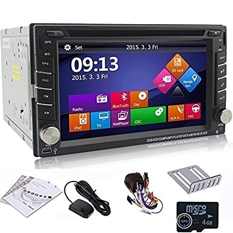 amazon com ouku 6 2 2din lcd tft in dash car dvd player with dvd rh amazon com Ouku Double Din Manual 2013 F350 Stereo Wiring
