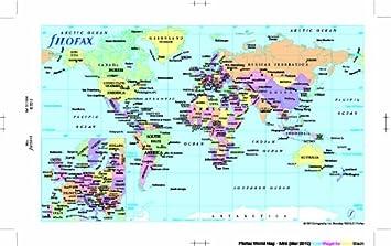 Mini World Map.Filofax Mini World Map Amazon Co Uk Office Products