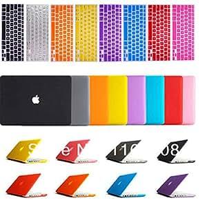 """Laptop Case MU Por 11,6 13,3 """"15,4"""" cubierta del estuche rígido portátil Shell cubierta de piel de silicona + teclado del MacBook Pro Retina Blanca Aire """"12"""", Naranja Mate"""