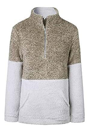 Women's Fuzzy Casual Teddy Coat Zipper Fleece Warm Winter
