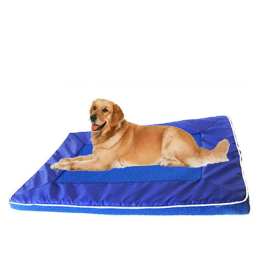 bluee 28443.5cm bluee 28443.5cm Pet Dog Cat Cool Mat Mat for Cooling Gel Auto Pad Mattress Dog Cage Pad Cooling Heat Relief Non Toxic Rapid Cooling Pad 2kg to 80kg Pet,28  44  3.5cm-bluee