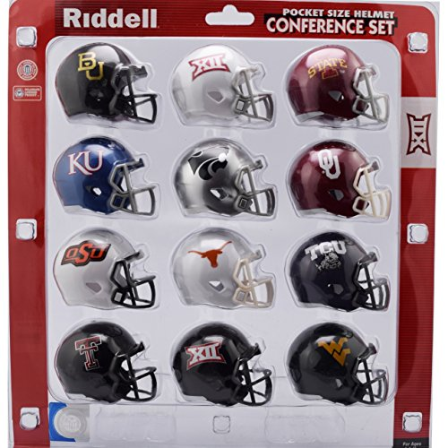 Riddell NCAA Pocket Pro Helmets, Big 12 Conference Set, (2018) New by Riddell